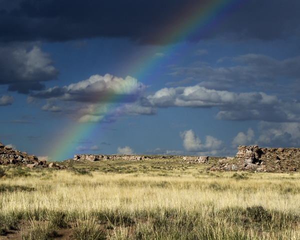 Rainbow at the Blue Mesa