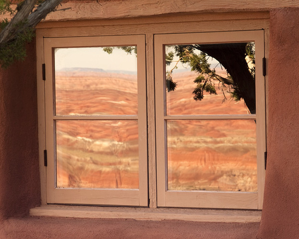Painted Desert Inn Reflection