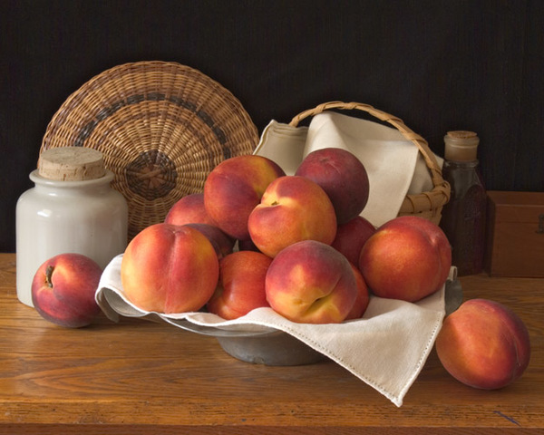 Still Life with Bowl of Peaches