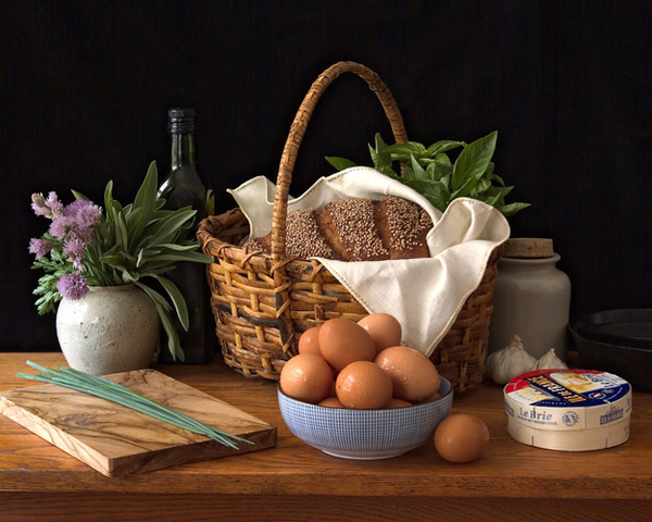 Still Life with Eggs and Cheese