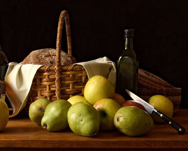Still Life with Bread and Pears